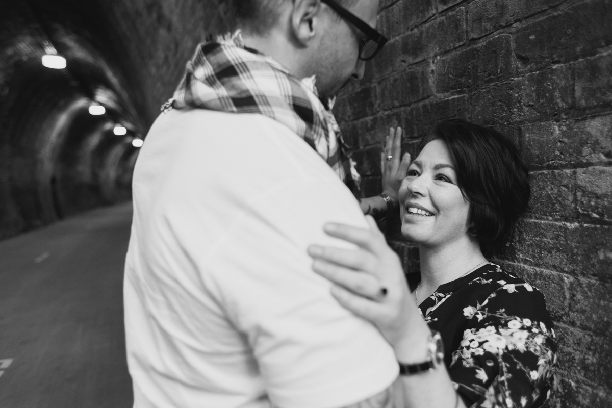 11_Candid engagement photography at the Fernleigh Track Tunnel in Newcastle