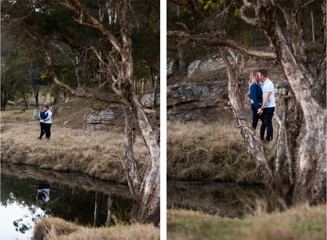 16 Hunter Valley wedding photographer captures love of newly engaged couple in Wollombi